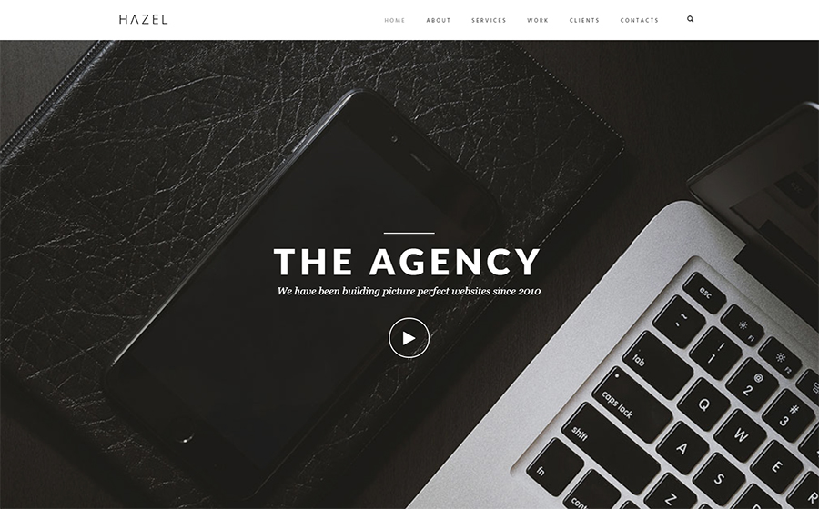 The agency WordPress theme