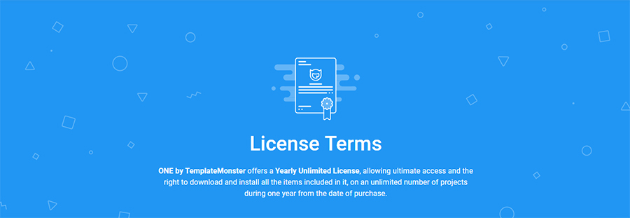 Licence terms by Template Monster