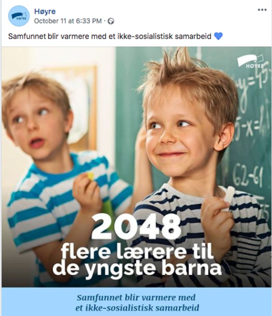 Høyres reklamekampanje stemmer ikke.