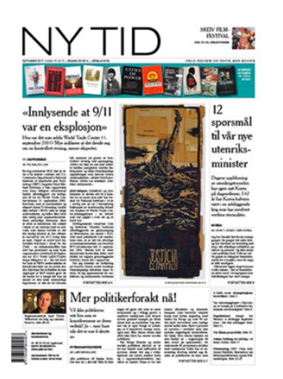 NY TIDS førsteside 14. september 2017.