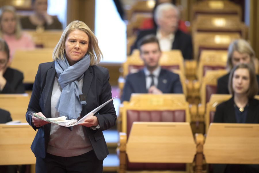 Justis- og beredskapsminister Sylvi Listhaug (Frp).