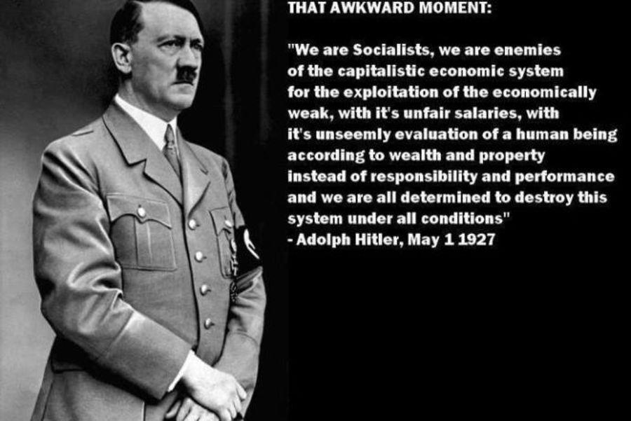 Dette er ikke noe Hitler har sagt. Sitatet er skrevet av hans politiske rival Gregor Strasser, som Hitler beordret drept i 1934.