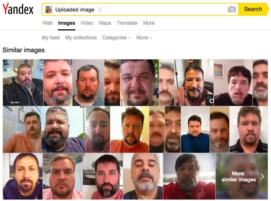 Bildesøket hos Yandex.com ledet oss til mannen på bildet.