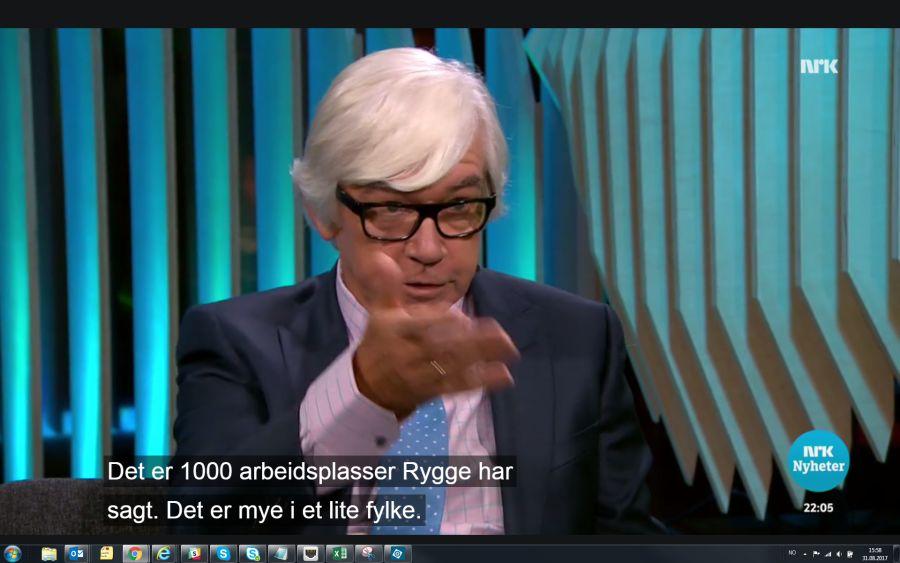 Ole Torp spør Trine Skei Grande om 1000 arbeidsplasser