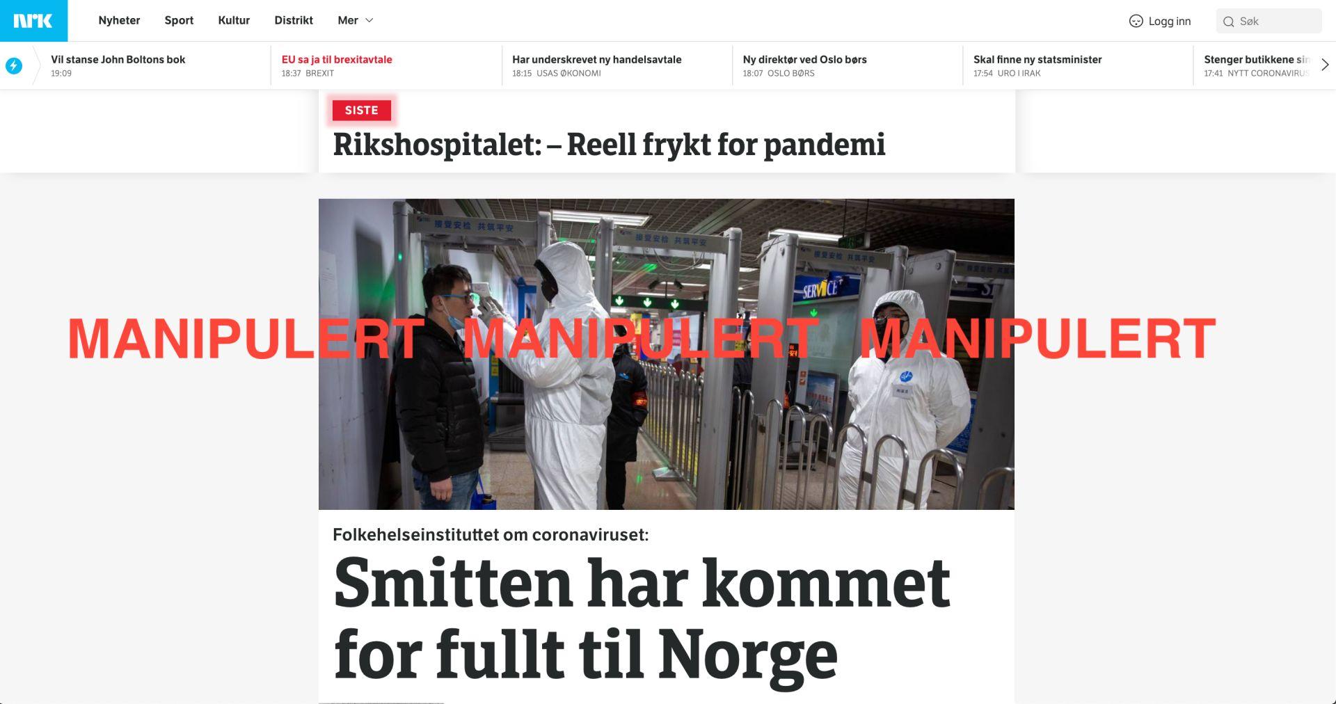 Nei Koronaviruset Har Ikke Nadd Norge Faktisk