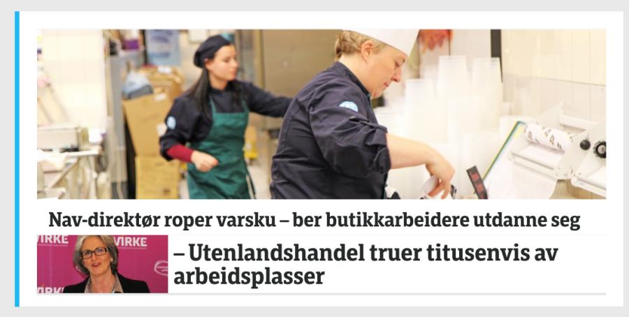 Slik så saken ut på forsiden til NRK.no onsdag formiddag.