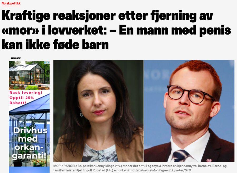 Nettavisens artikkel om den påståtte fjerningen av «mor» i barneloven, var Norges mest engasjerende artikkel i sosiale medier dagen den ble publisert.