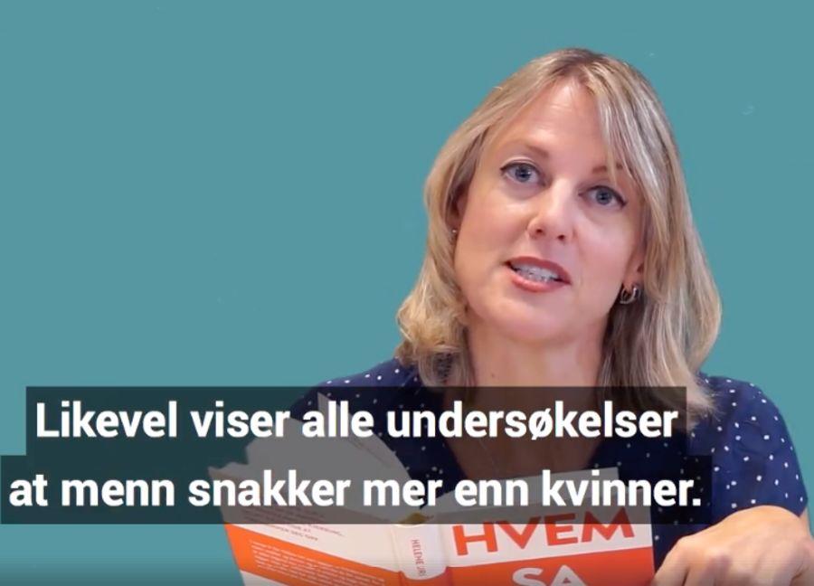 Det er ikke riktig at alle undersøkelser viser at menn snakker mer enn kvinner, slik Uri hevder i en reklamevideo for boken «Hvem sa hva».