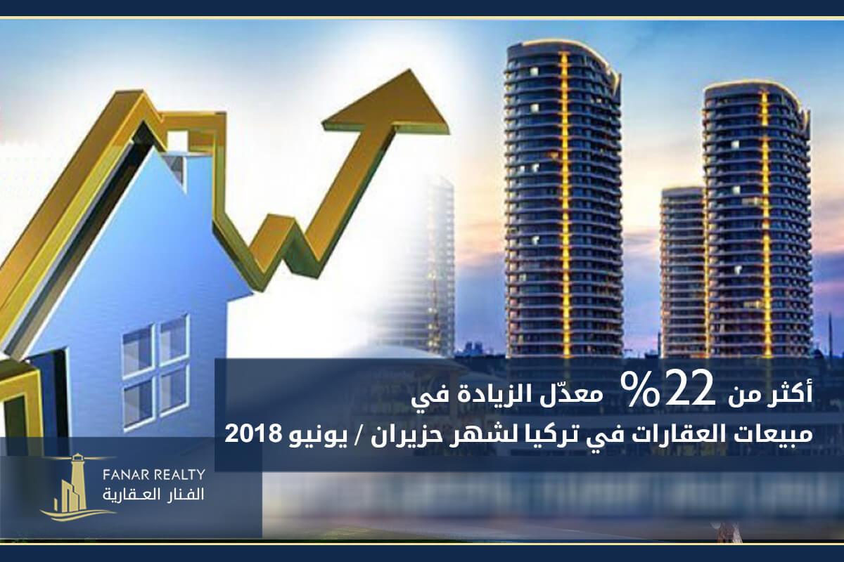 8c67cc64a42ad معدّل زيادة مبيعات عقارات تركيا لشهر يونيو 2018 بلغ 22%