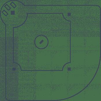 Line art - Baseball pitch