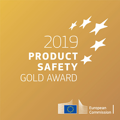 The European Union award for Product Safety badge