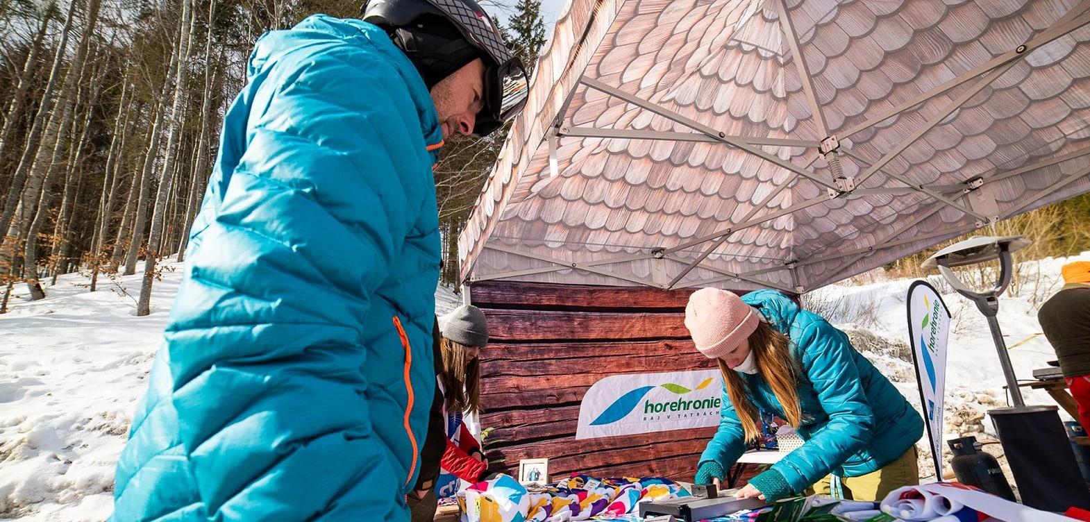 gazebo skiing promotional tent with print  gazebo pop up