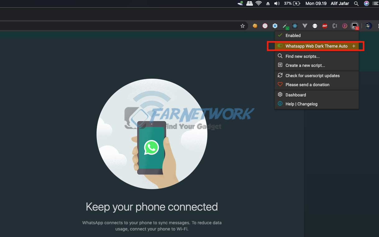 tampermonkey-disable-dark-mode-whatsapp-web