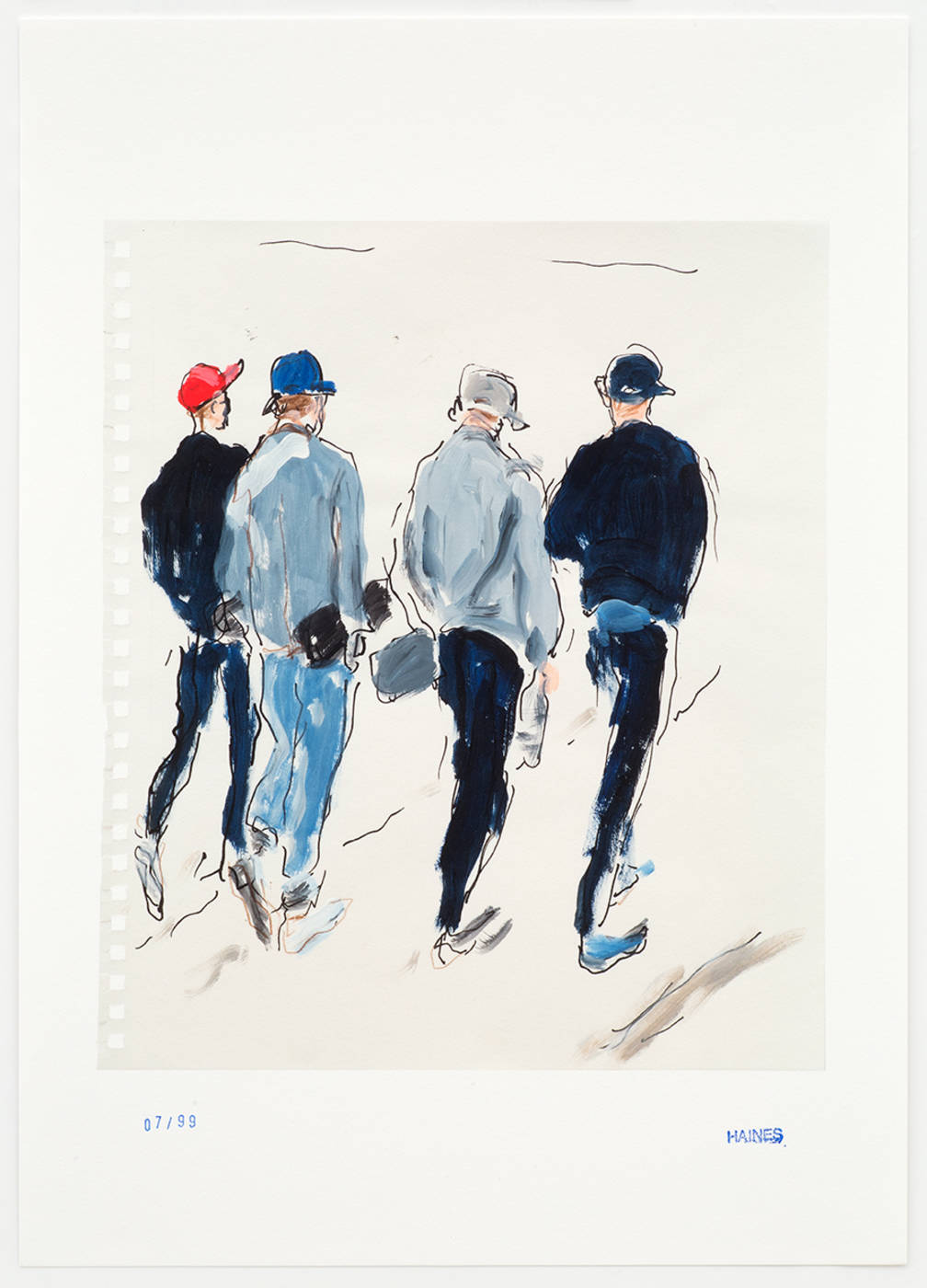Four Guys Walking