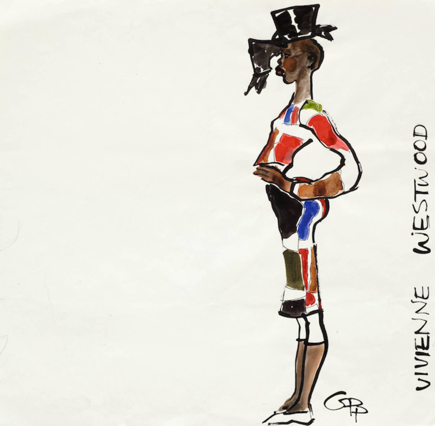 Alek Wek in Vivienne Westwood F/W 1998/99
