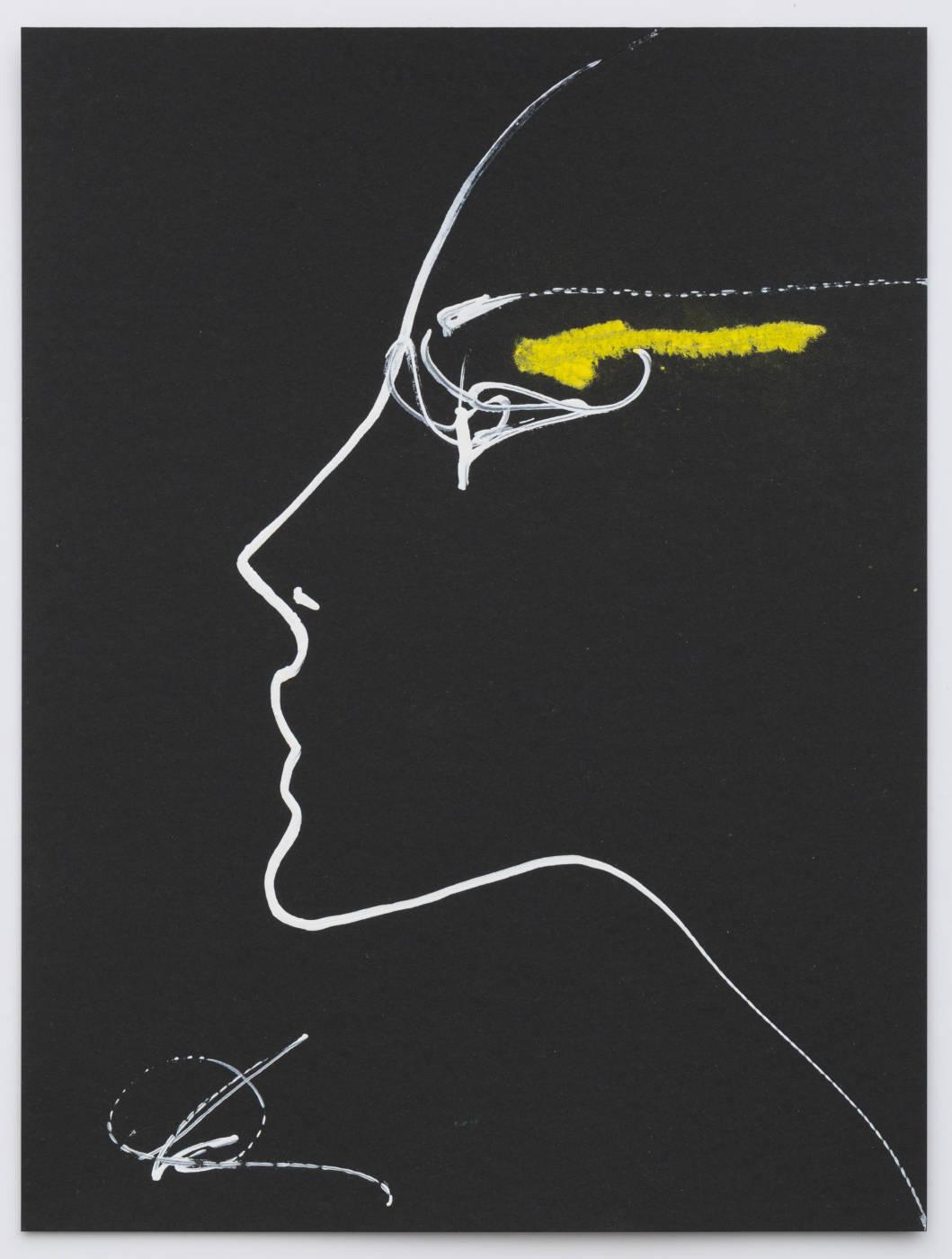 Yellow Eye on Black