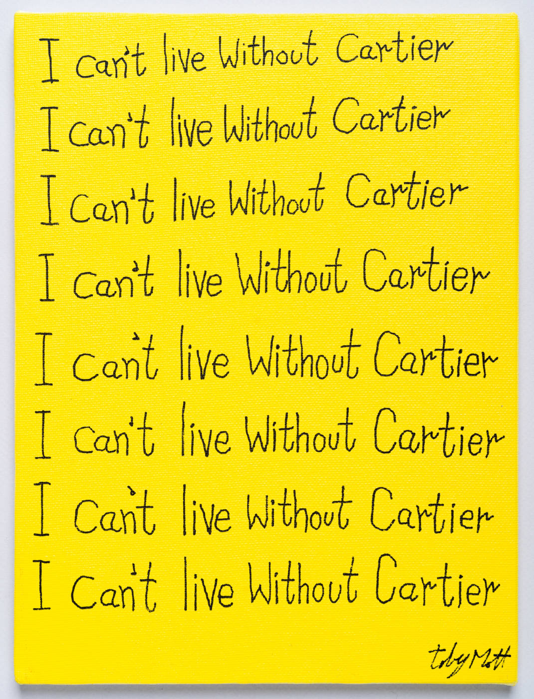 I can't live without Cartier