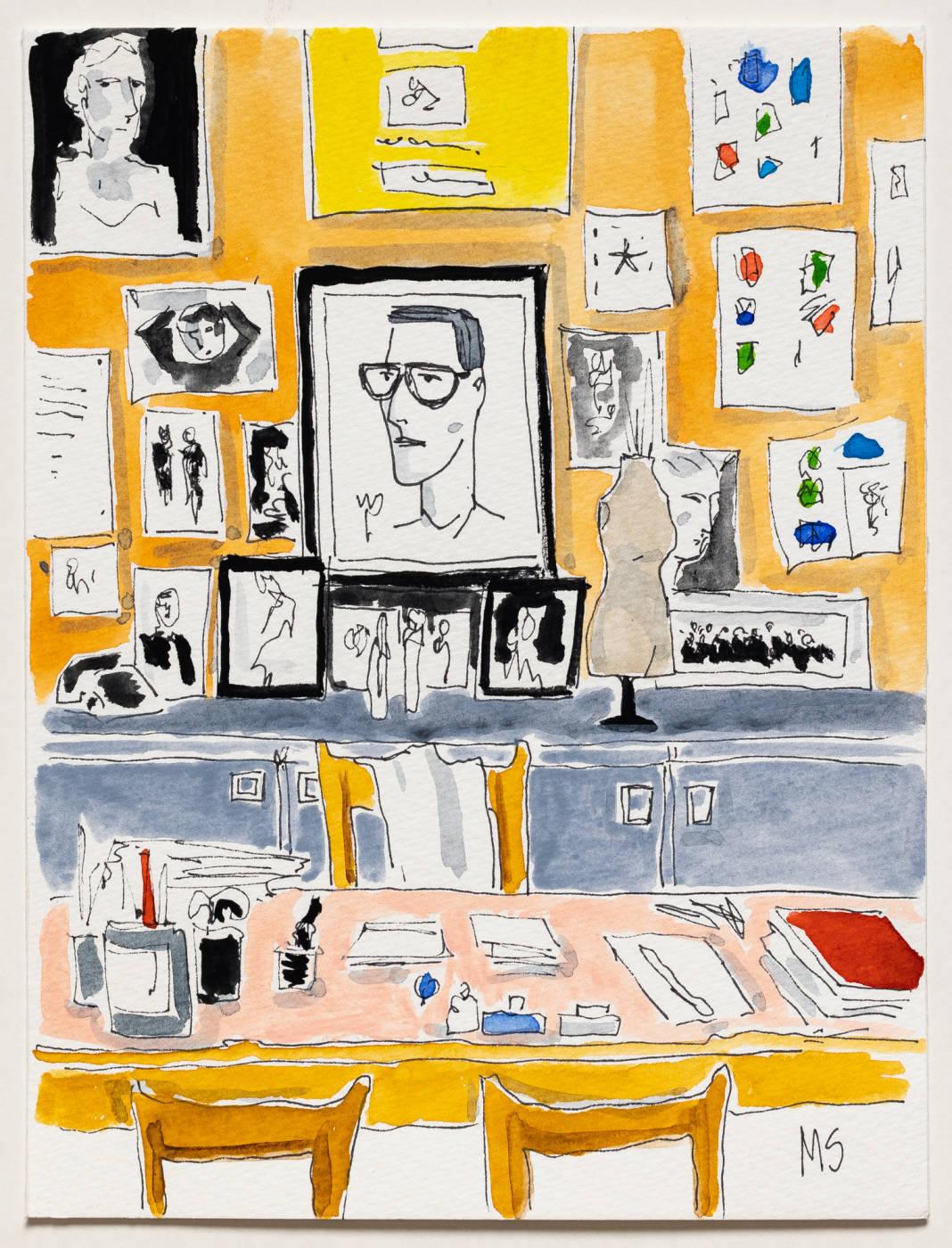 Yves Saint Laurent desk