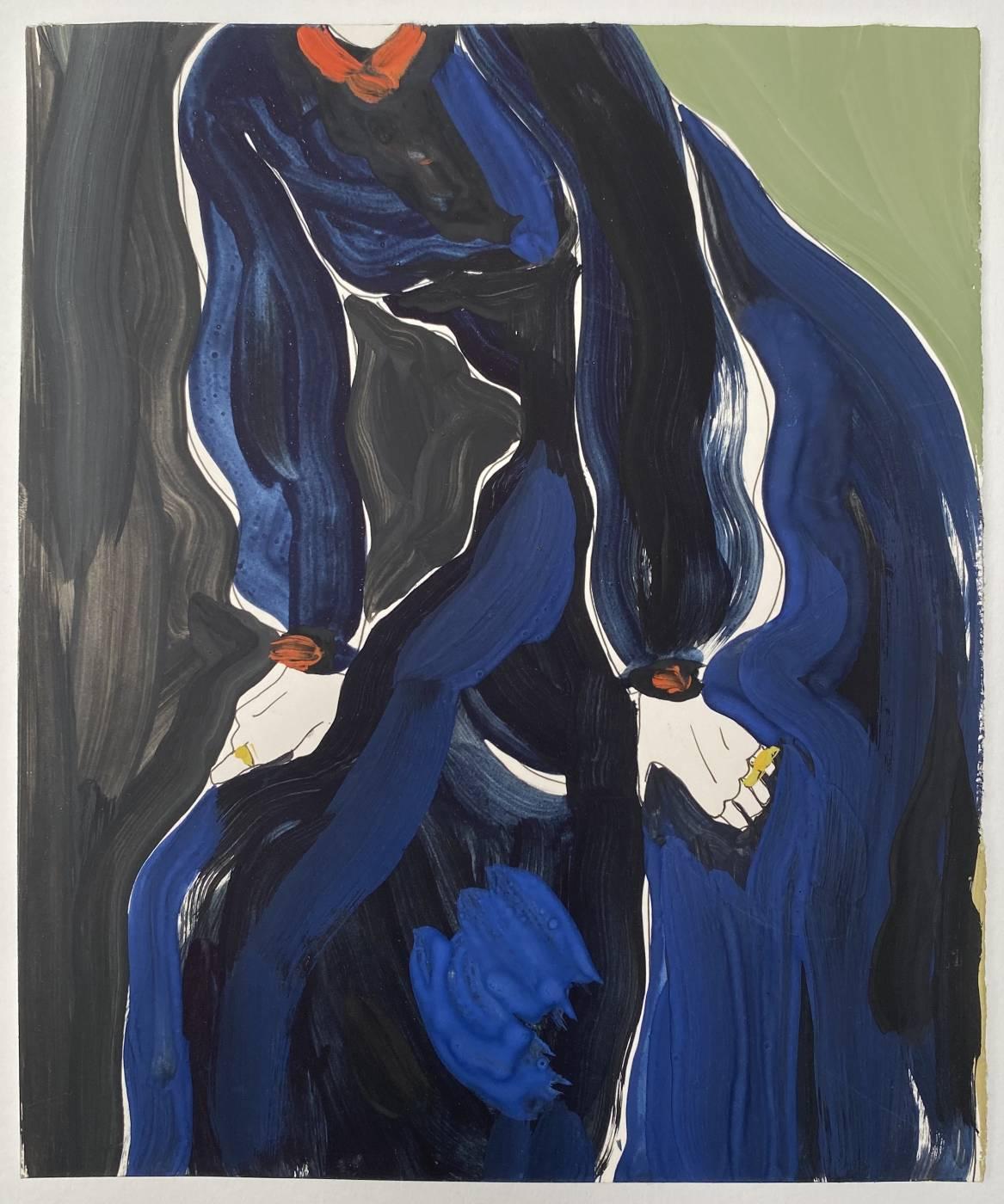 Untitled (woman in dark blue dress)