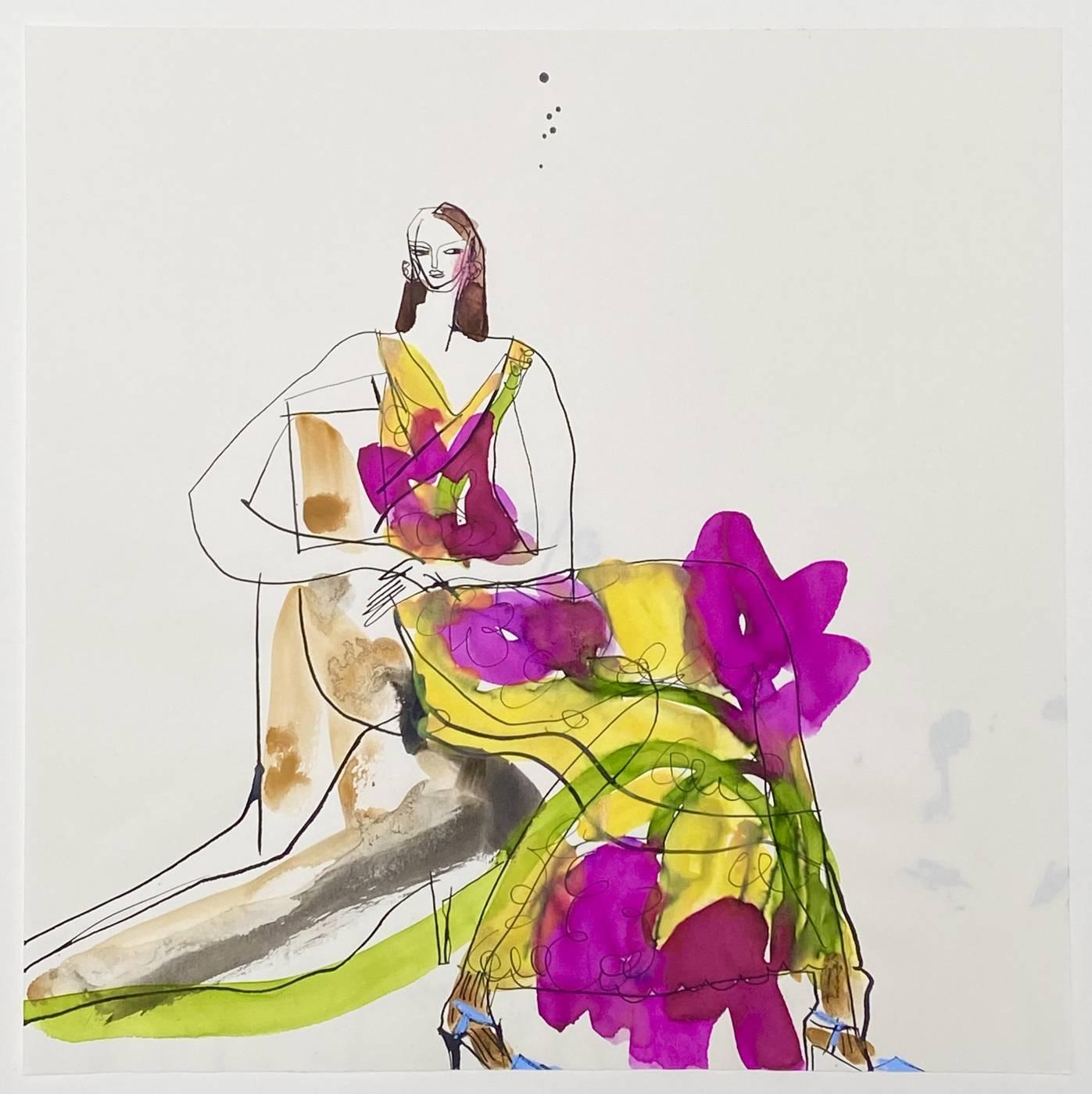 Girl in Flower Dress