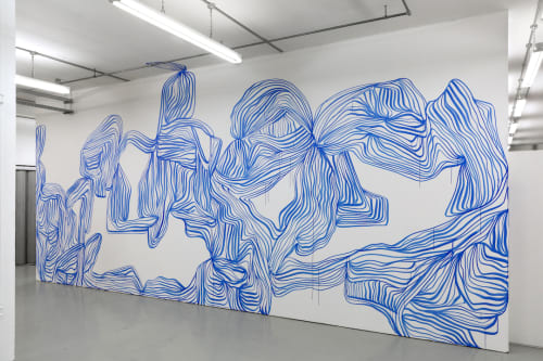Ultramarine Line Painting / Wall Painting