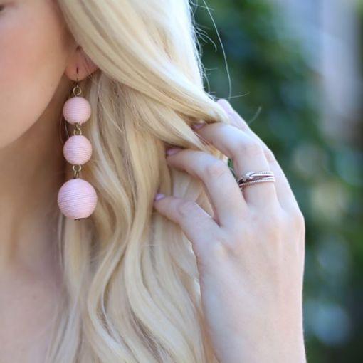 Statement Ball Earrings Pendant