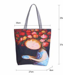 Floral Printed Large Women Bag