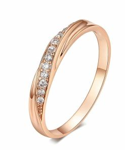 Cubic Rose Gold Color Ring