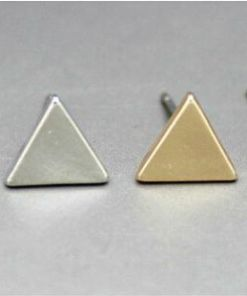 Princess-Cut Flat Black Triangle Earring