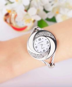 Attractive Rhinestone Bangle Watch