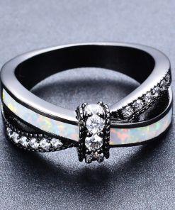 Vibrant Rainbow Opal Ring