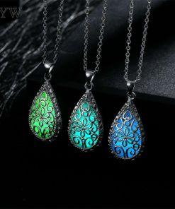Glowing Stone Locket Necklace