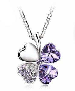 Lovely Heart charm Crystal Pendants