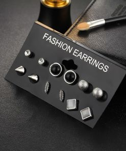 Lovely Set of Silver-Color Stud Earrings