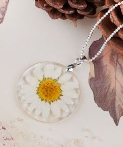 Glass Enclosed Floral Wild Pendant