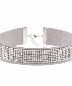 Crystal Pelleted Attitude Choker Necklace