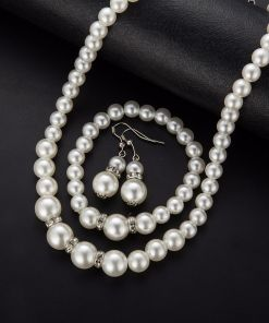 Flawless Crystal Pearl Jewelry Set