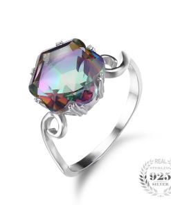 Rainbow Wave Sterling Ring