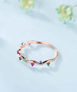 Romantic Colorful Crystal Seamless Ring