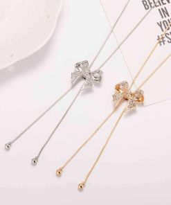 Stylish Knotted Bolt-Tie Chain Necklace