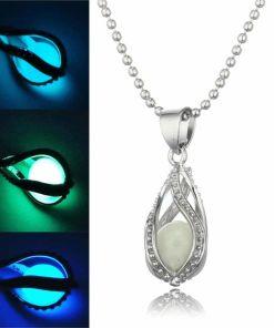 Glowing Dark Stone Necklace