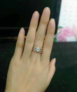 Rose Gold Crystal Wedding Jewelry
