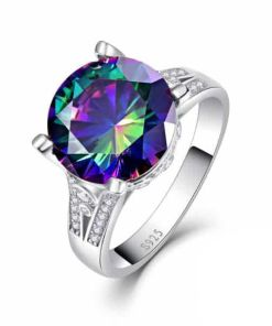 Rainbow topaz stone