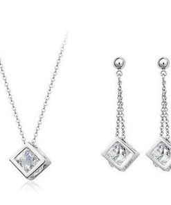 Crystals Cube Jewelry Set