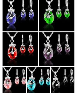 Lovely Flower Silver Jewelry Sets