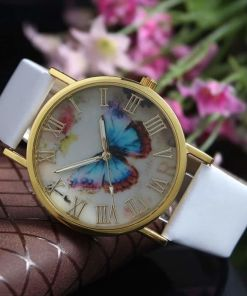 Butterfly Style Analog Watch