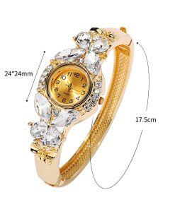 Gemstone Classic Alloy Wristwatch