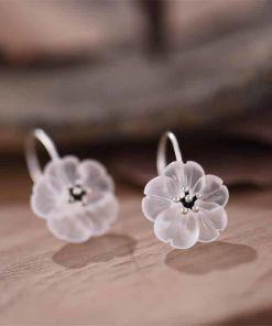Flowers Sterling Earrings