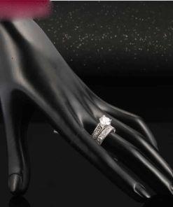 Luxury Cubic Ring Set