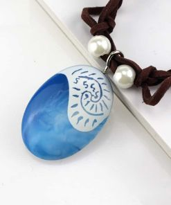 Blue Stone Rope Necklace